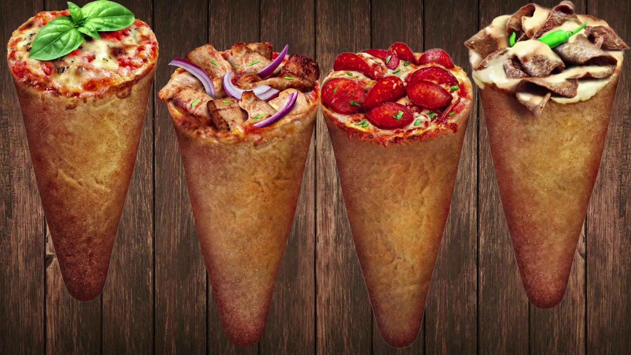 Pizza in a cone