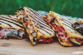 Ratatouille grilled panini